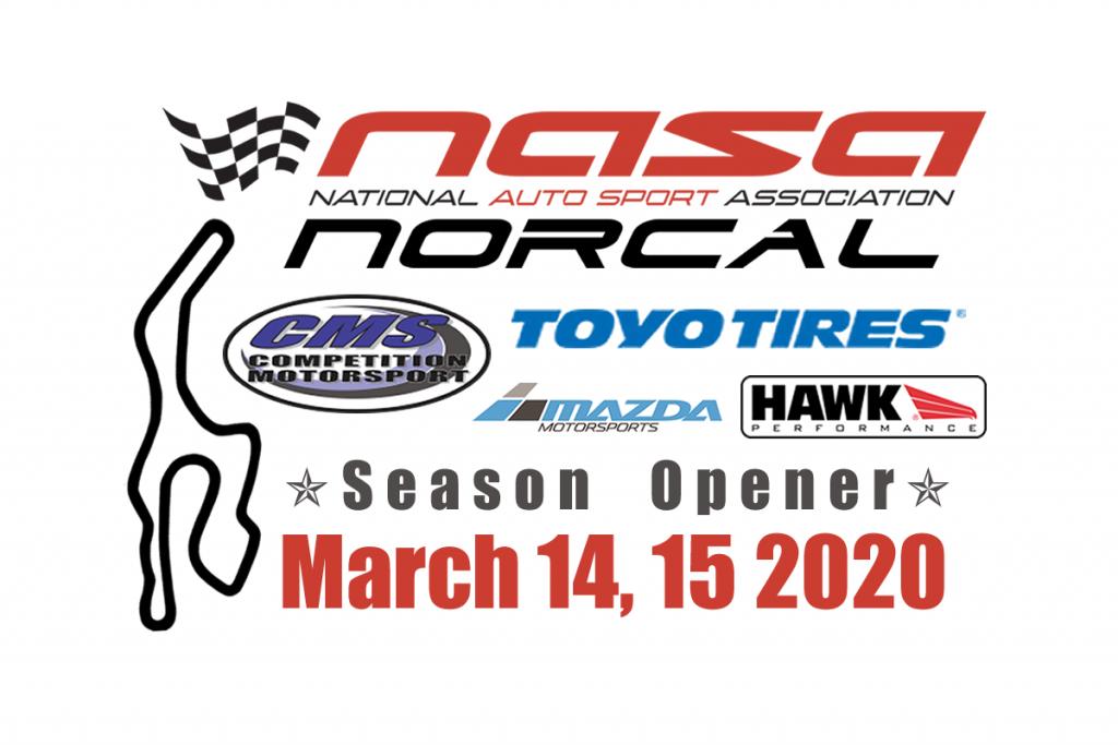 NASA NorCal March 14-15 2020 Sonoma Raceway